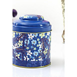 Metal Crafts Sealed Tinplate Coffee Storage Tea Caddy (Random Colors)