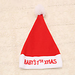 1pc Red Embroidered Baby Xmas Words Christmas Hat New Year Cap Party Supplies