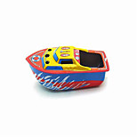 The Boat Wind-up Toy Leisure Hobby  Metal Blue For Kids