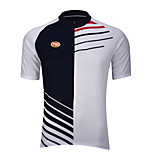 Sports Bike/Cycling Tops Men's Short Sleeve Breathable / Quick Dry / Front Zipper /  Reduces Chafing / Soft