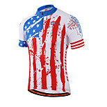 Miloto® Bike/USA Cycling Jersey Shirt / Sweatshirt / Jersey Women's / Men's /Reflective Strips/ Quick Dry