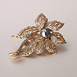 European and American fashion zircon Pearl Brooch Series 017