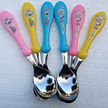 Children Spoon Fork Cutlery Round Anti-Hot Rice Soup Spoon Cartoon Child High-Quality Stainless Steel