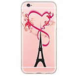 Eiffel Tower Love Pattern Soft Ultra-thin TPU Back Cover For iPhone 6s Plus/6 Plus/6s/6/5s/5