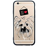 Back Cover Transparent/Pattern Dog TPU Hard Case Cover For Apple iPhone 6s Plus/6 Plus / iPhone 6s/6/iPhone SE/5s/5