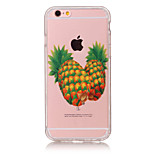 TPU Material Pineapple Pattern Painted Relief Phone Case for iPhone 6s Plus / 6 Plus/6S/6/SE / 5s / 5