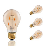 2W E26 LED Filament Bulbs A19 COB 180 lm Amber Dimmable / Decorative AC 110-130 V 4 pcs