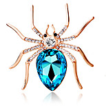 Women's Fashion Personality Cute Big Spider Brooch Crystal Diamond Exquisite Brooch Jewelry Gift