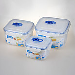 YOOYEE Brand Set of 3PCS/Set BPA Free Heatproof Plastic Food Storage Freezer Container with Lid