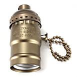 E27 Bakelite Base Bulb Socket Lamp Holder with Switch Black/Bronze/Silver/Golden color