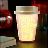1pc color al azar creativo bar ktv vaso de papel del medio ambiente llevó la luz de la noche de la lámpara LED drinkware