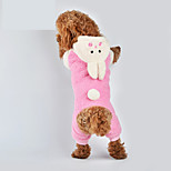Cat / Dog Costume / Clothes/Jumpsuit Pink Winter / Spring/Fall Animal Cosplay, Dog Clothes / Dog Clothing