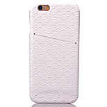 KARZEA™Mermaid Pattern PC and PU Leather Back Case with Card Holder for iPhone6 6S/6S Plus