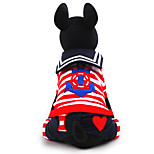 Cat / Dog Coat / Clothes/Jumpsuit Black Winter / Spring/Fall Britsh / Nautical Cosplay, Dog Clothes / Dog Clothing