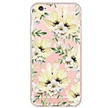 Flower Pattern TPU Ultra-thin Translucent Soft Back Cover for Apple iPhone 6s Plus/6 Plus/ 6s/6/ SE/5s/5