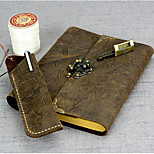 Cowhide Leather Notepad Manual Locking Of The Travel
