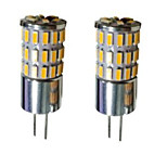 4W G4 Luces LED de Doble Pin T 48 SMD 3014 300-450 lm Blanco Cálido / Blanco Fresco / Blanco Natural Decorativa DC 12 V 2 piezas