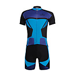 PaladinSport Men 's Cycyling Jersey + Shorts Suit DT647 Nerazzurri Splicing 100% Polyester