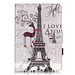 PU Leather Material Tower in Paris Embossed  Pattern Tablet Sleeve for iPad mini 1 / 2 / 3