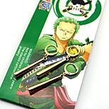 Costumes Cosplay / Plus d'accessoires One Piece Roronoa Zoro Anime Accessoires de Cosplay Doré ABS / Alliage