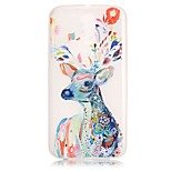 Water Color Deer Pattern Relief Glow in the Dark TPU Phone Case for Motorola Moto G4 Play / G 4