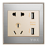 2400ma 110V~250V Smart USB Charging Socket(DC 5V)