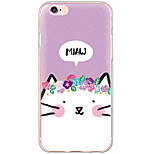 Transparent/Shockproof/Pattern Cat TPU Hard Case Back Cover Fundas For iPhone 6s Plus/6 Plus/iPhone 6s/6/iPhone 5/5s/SE