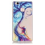 TPU material The New Tree Lovers Trees Pattern Luminous Phone Case for Huawei P9Lite/P9/P8Lite/Honor 5X