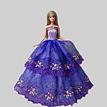 Party & Evening Dresses For Barbie Doll Purple Lace Dresses