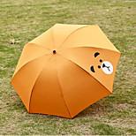 1202 Small Fresh Three Folding Umbrella Umbrella Sunny Umbrellas Cute Cartoon Student