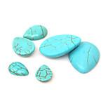 beadia 20pcs 13x18mm gota de agua forma cabujones de piedra sintética de color turquesa perlas