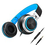 Lightweight Foldable Headphone with Microphone Mic and Volume Control for iPhone,Android Smartphones and PC