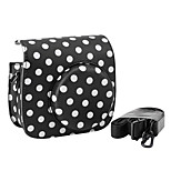 PU Leather Mini Camera Case for Fujifilm Instax Mini 8 with Detachable Shoulder Strap, Black