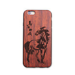 Natural Wood Horse Black Bumper Ultra Thin Protective Back Cover iPhone Case for iPhone 6S Plus/6 Plus/6S/6