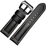 Caffè / Nero / Verde / Marrone / Arancione Pelle / Metallo Cinturino sportivo Per Garmin Orologio 26mm
