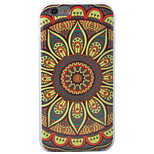HD Painted Sun Flowers Mandala Pattern Material TPU Phone Case For iPhone SE 5s 5 6s 6 6s Plus 6 Plus