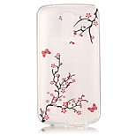 Plum Tree 3D Relief Feeling Super Soft Pack Transparent TPU Phone Case for LG K7/K8/K10