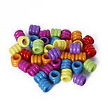 beadia perline sparse colori assortiti perline acriliche 7x8mm plastica tubo (50 g / ca 200pcs)