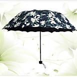 Blue Folding Umbrella Sunny and Rainy Textile Travel / Lady / Men