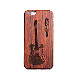 Natural Wood Music Guitar Ultra Thin Protective Back Cover iPhone Case for iPhone 6S Plus/6 Plus/6S/6