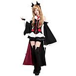 Costumes / Zombie / Vampires Halloween / Christmas / Carnival Black Uniform Cloth Dress / Socks / Headwear