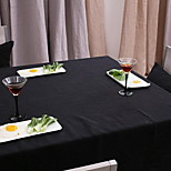 Canvas Tablecloths Simple Modern Fashion Solid Color Black Wallpaper for Western Cuisine and Coffee Shop (140 * 140cm)