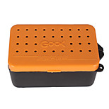 Anmuka 2 Compartments Fishing Box Plastic Earthworm Worm Bait Lure Fly Carp Fishing Tackle Box Accessories