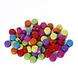 beadia assortiti perline colore acrilico 5x8mm perline sparse piatto di plastica rotondo (50g / ca 210pcs)