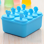 Set Of 8 Frozen Clear Plastic Ice Cream Tool Mould Popsicle Maker Fish Kitchen Mold DIY(Random Colours)