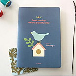 Cute Cat Bird Squirrel Little Girl Notepad A5 Soft Manuscripts Notebook (Random Colors)