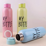 500ML Single-layer Stainless Steel Portable Bottle with Sling (Random Color)