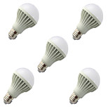 5pcs HRY® 9W E27 2835SMD Cool White Sound & Light Control Lamp LED Smart Bulbs(220-240V)