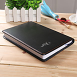 Business Notebook Notepad Office Stationery Leather Work Record Book