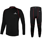 MILOTO® Men's Winter Fleece Thermal Underwear Cycling Running Undershirt Long Johns Clothing Top Set Outdoor Base Layers